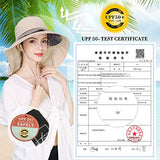 Summer Sun Hat for Women Hunting UPF50+ Outdoor Wide Brim Beige