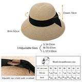 Straw Sun Hats for Women Fedoras Wide Brim Hats