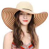 Sun UV Protection UPF 50 Fishing Wide Brim Fashion Straw Bucket Hat Orange