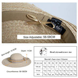 Straw Sun Hats for Women Panama Summer Beach Wide Brim Hats