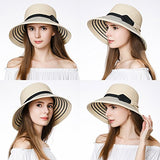 UPF50 Foldable Summer Sun Beach Straw Hats Accessories Wide Brim