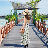 Summer Beach Straw Women Hat Foldable UPF 50 UV Sun Protection Beige-Mix