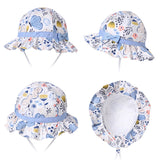 100% Pure Soft Cotton Baby Sun Hat with Adjustable Chin Strap