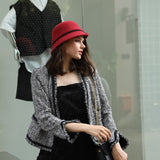 cloche hat red