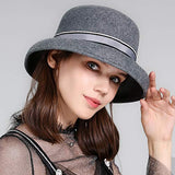 BUCKET HAT FOR WOMEN WINTER VINTAGE LADIES FEDORA HATS
