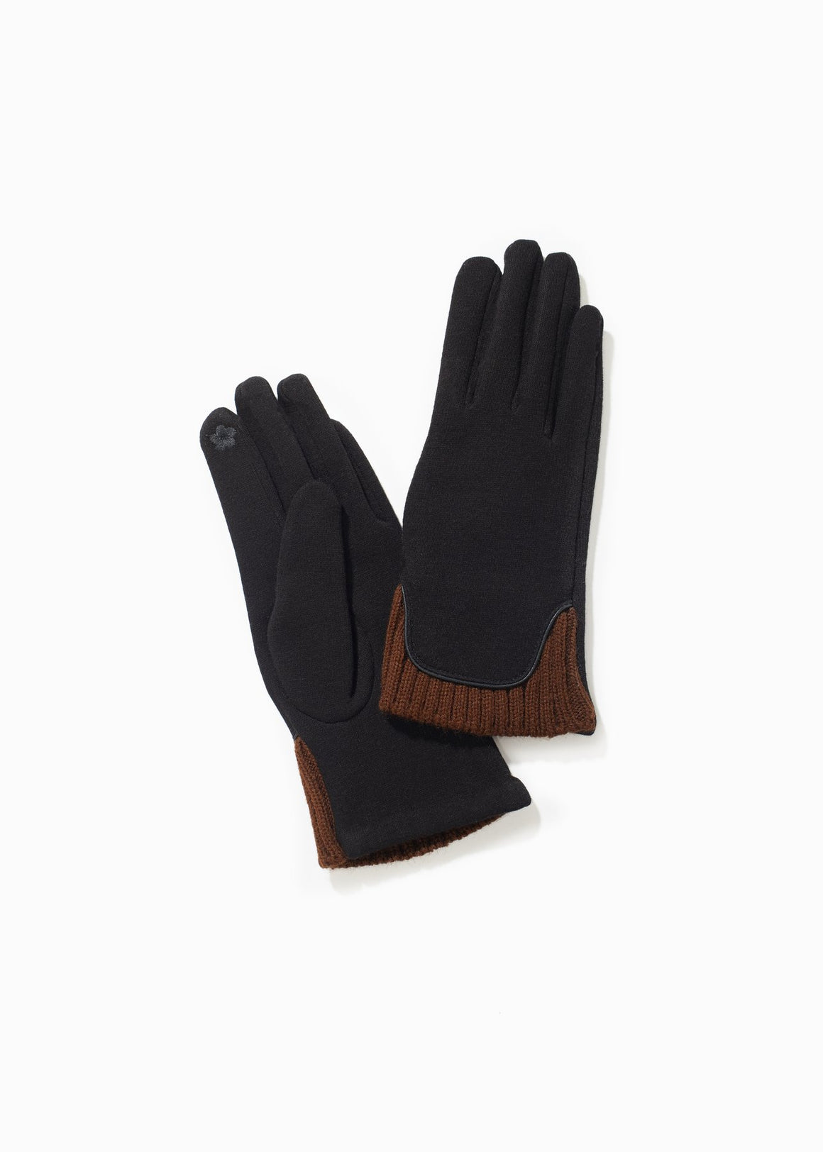Look By M Knit Trim Gloves