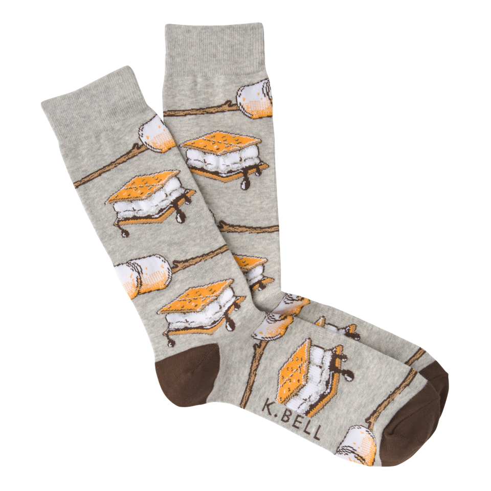 K. Bell Men's Graphic Crew Socks