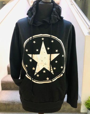 Jane - Black Star Sweatshirt
