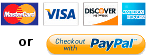Pay with all major credit cards or PayPal