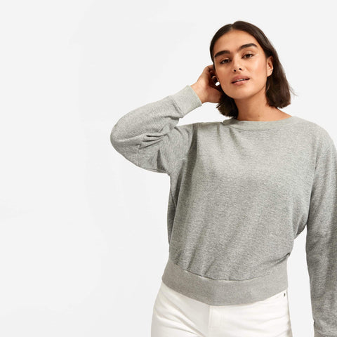The Lightweight French Terry Pleat Sweatshirt