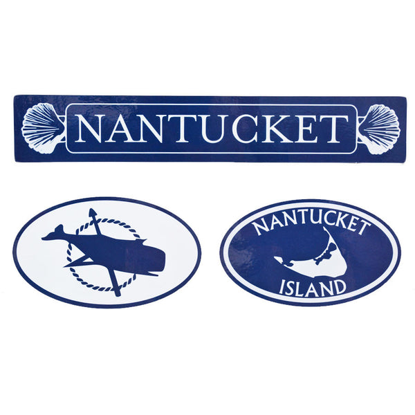 Nantucket Navy & White Sticker Set