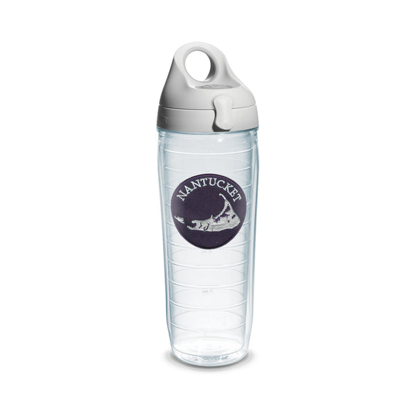 "24 oz Nantucket ""Navy Patch"" Tervis Water Bottle"