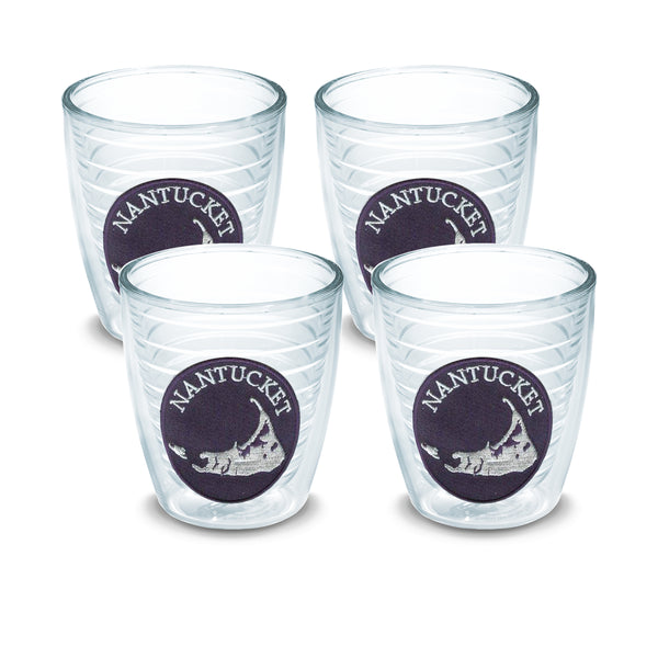 "12 oz Nantucket ""Navy Patch"" Tervis (Set of 4)"