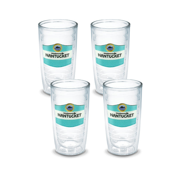 "16 oz Nantucket ""Road Sign"" Tervis (Set of 4)"