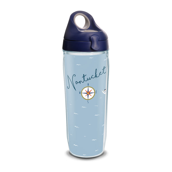 24 oz Nantucket Compass Tervis Water Bottle
