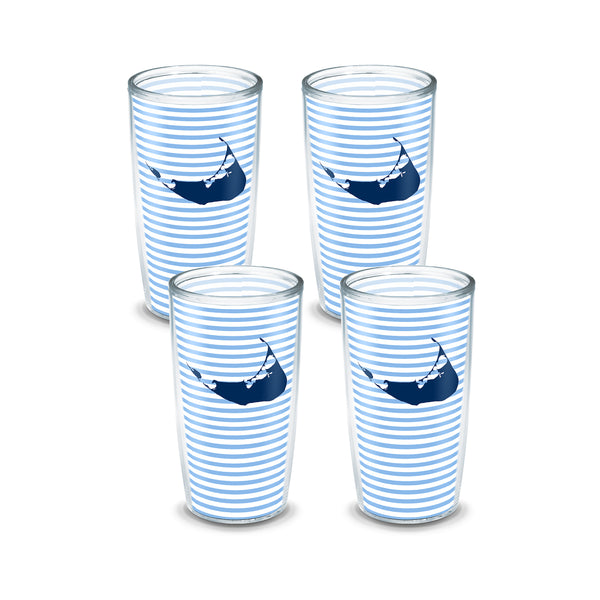 16 oz Blue Stripe Nantucket Tervis (Set of 4)