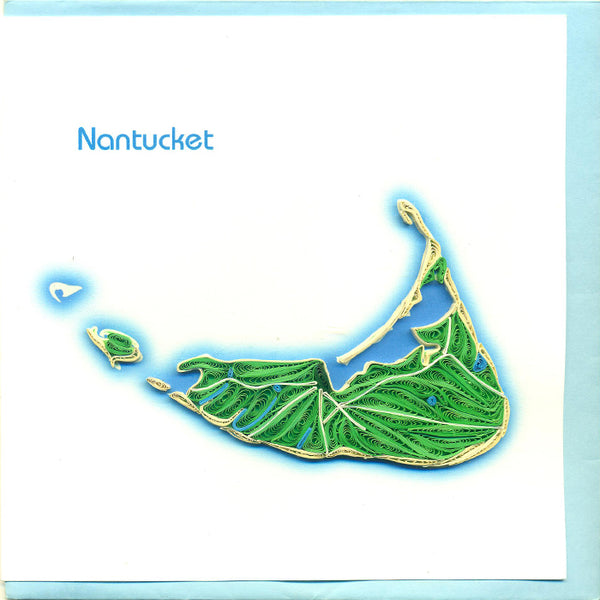 Nantucket Island Quilling Card