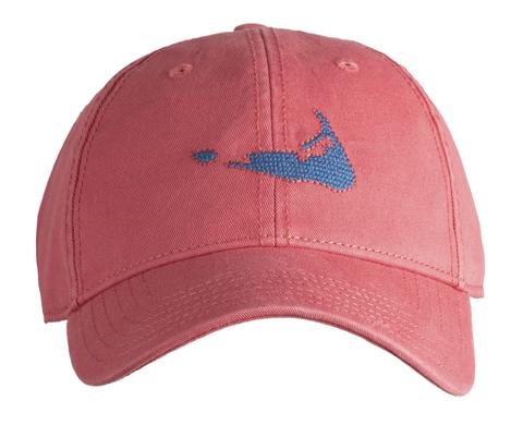 Nantucket Island on Faded Red Cap