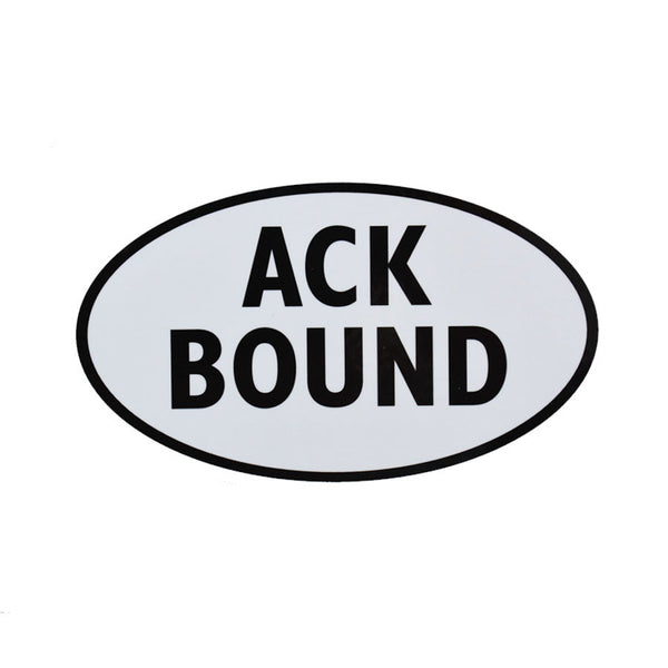 ACK Bound Sticker