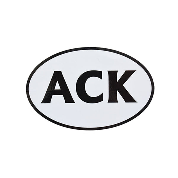 ACK Black & White Sticker (Small)