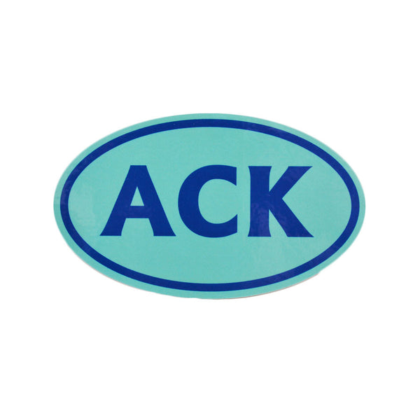 ACK Turquoise Sticker
