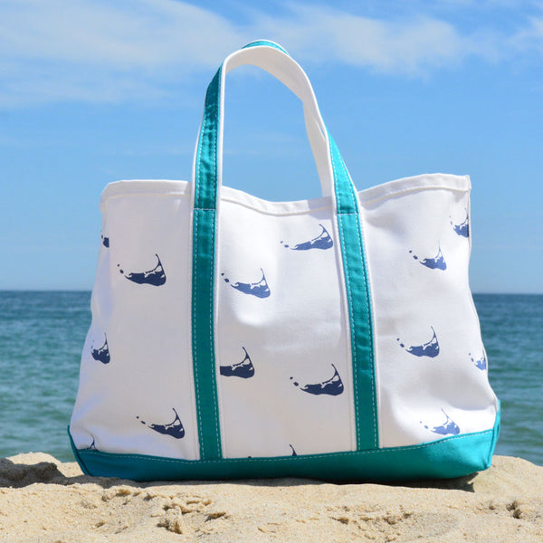 Nantucket Island Beach Tote Bag