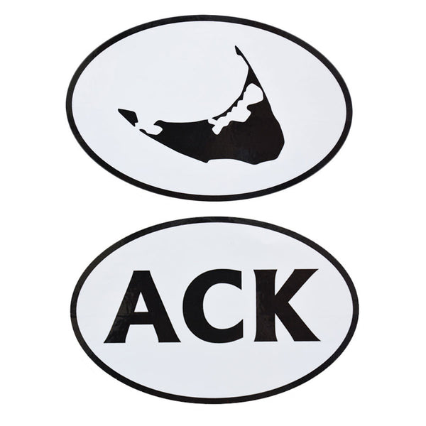 Nantucket Black & White Sticker Set