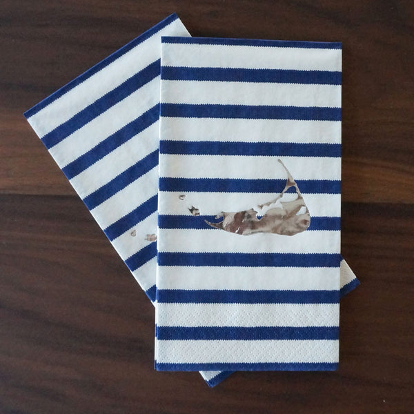 Nantucket Island Guest Towels (Blue & White)