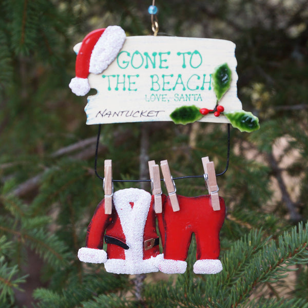 Nantucket Santa's Clothes Line Ornament