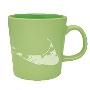 Island Shape Green Mug