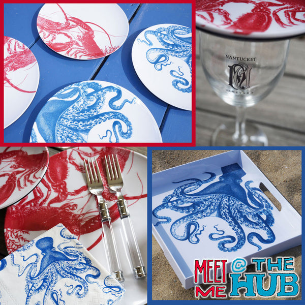 Blue Octopus Cocktail Napkins