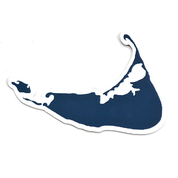 Navy Island Shape Cut Out Car Magnet