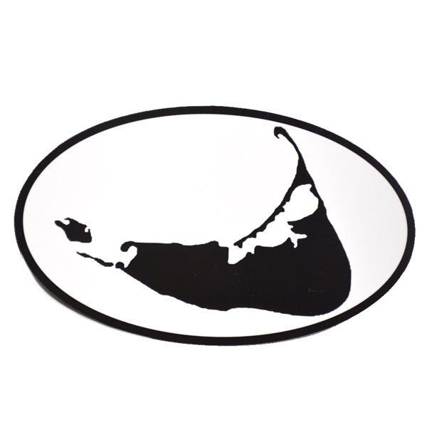 Island Shape Oval Car Magnet