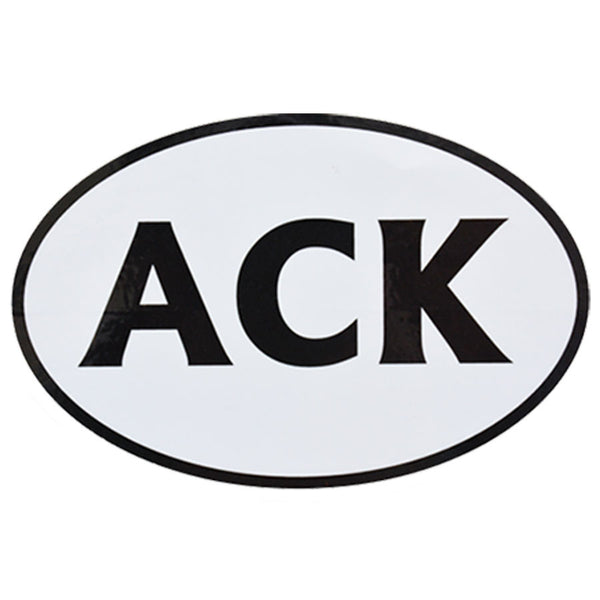 ACK Black & White Sticker (Large)