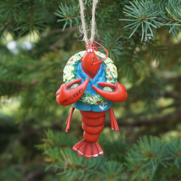 Nantucket Lobster with Wreath Ornament