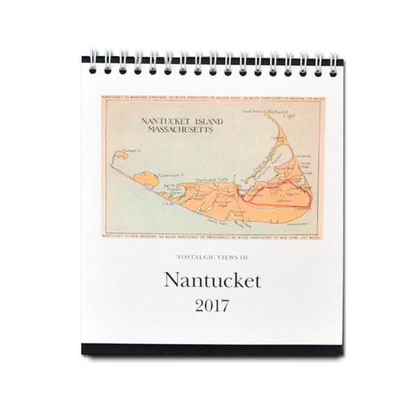 Nostalgic Views 2017 Nantucket Desktop Calendar