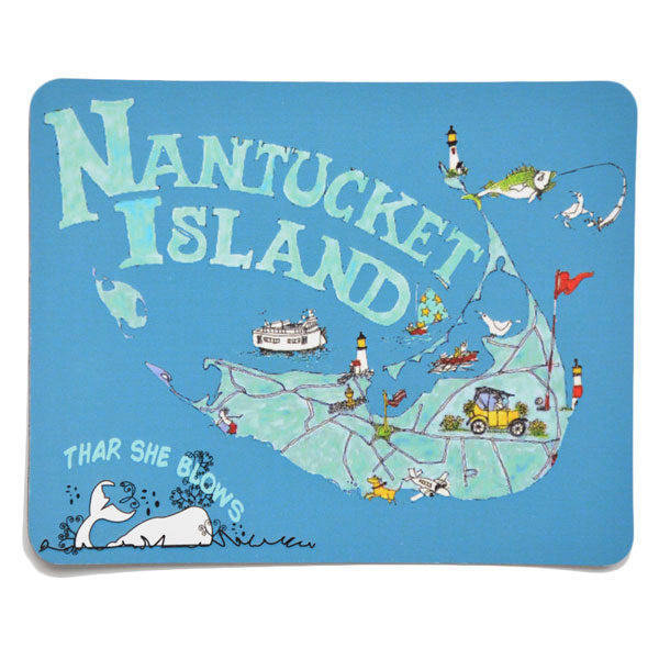 Nantucket Island Large Car Magnet