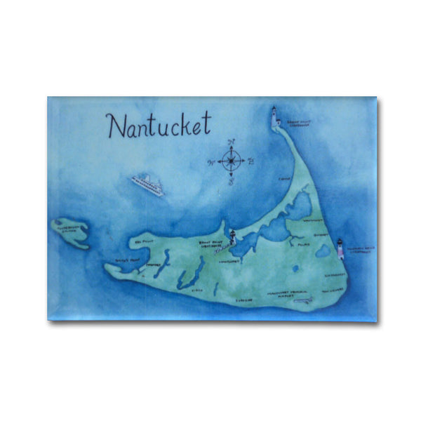 Nantucket Map Magnet
