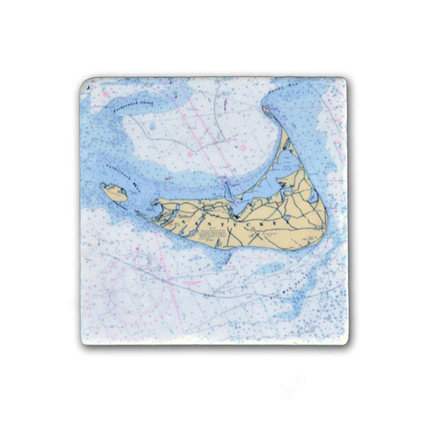 Nantucket Map Charter Magnet