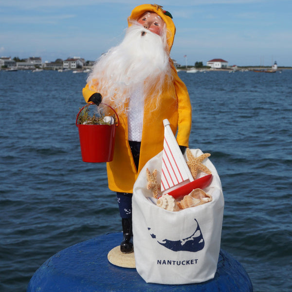 BYER'S CHOICE CAROLER - NANTUCKET SANTA CLAUS