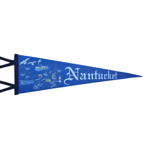 Nantucket Map Pennant