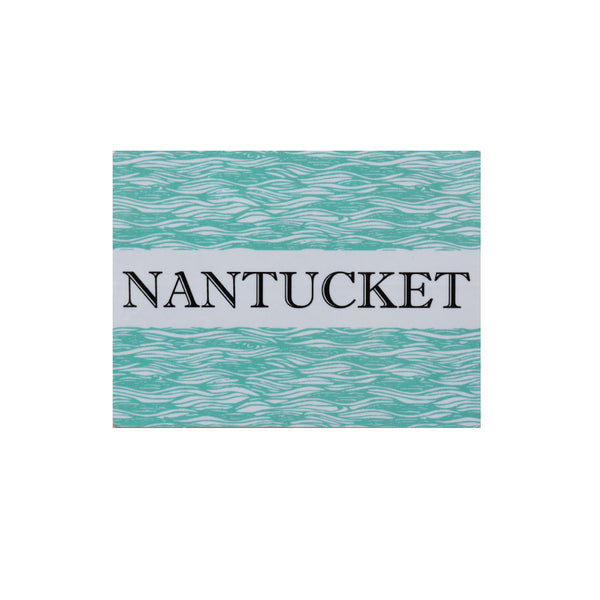 Nantucket Turquoise Square Sticker