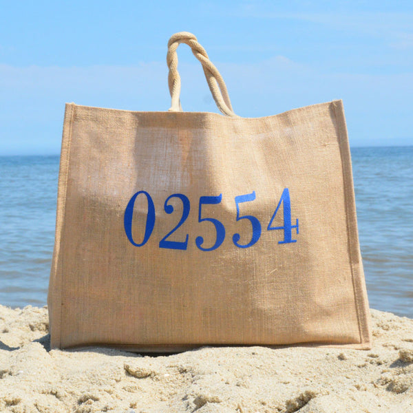 Oversized Burlap Beach Bag