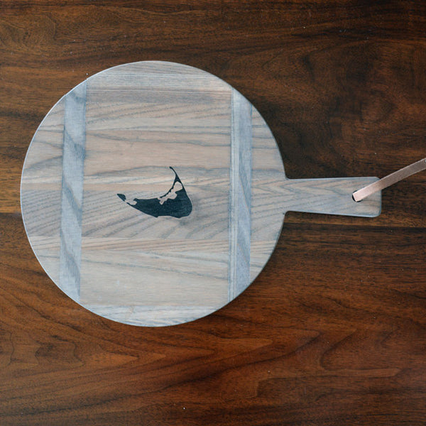 Round Grey Lady Cutting Board