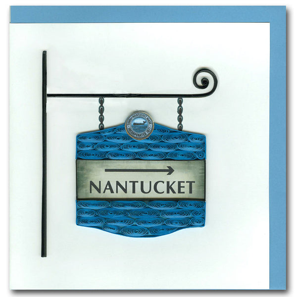 Nantucket Street Sign Quilling Card