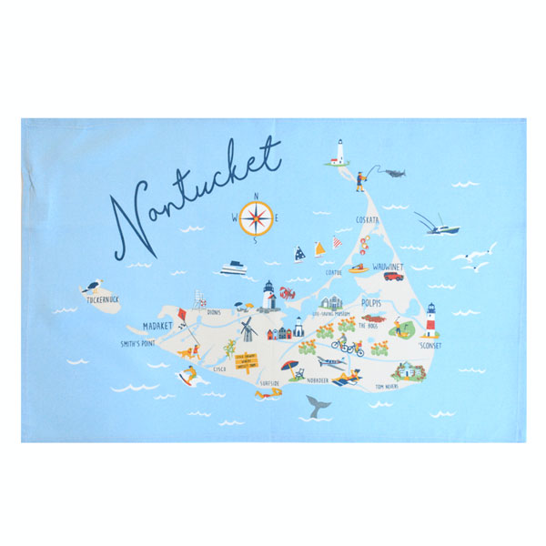 Nantucket Tea Towel