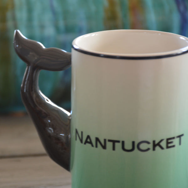 Nantucket Whale Handle Coffee Mug