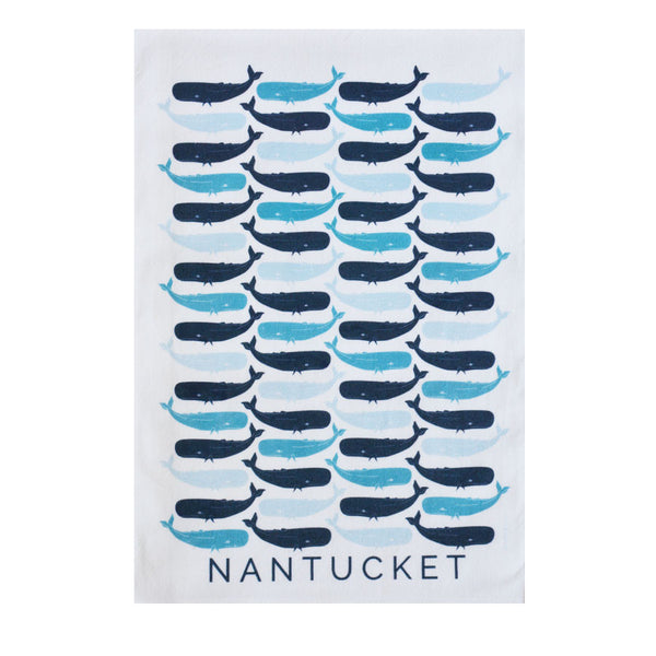 Nantucket Whale Tea Towel