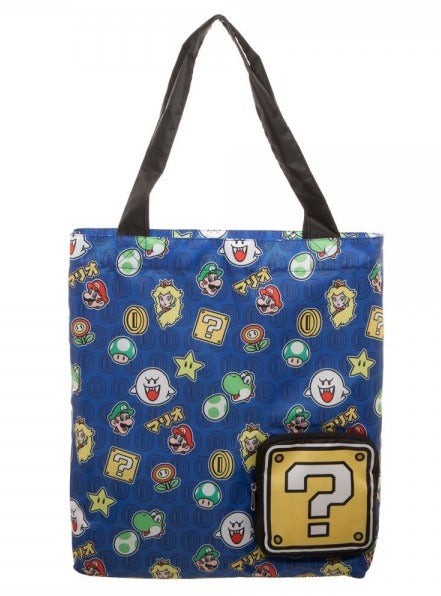 Super Maio Bros Packable Tote Bag