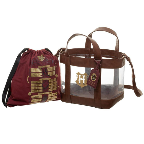 Harry Potter: Clear Tote with Cinch Bag